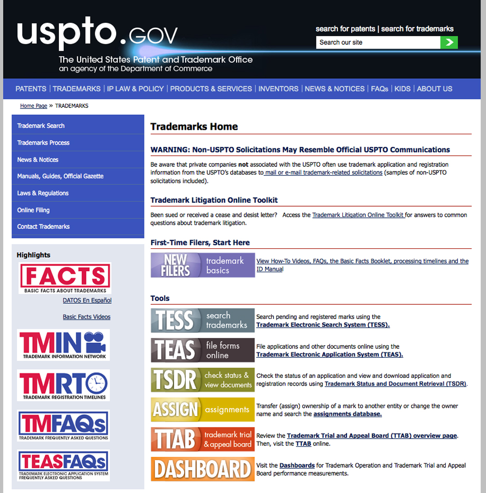 USPTO_Website